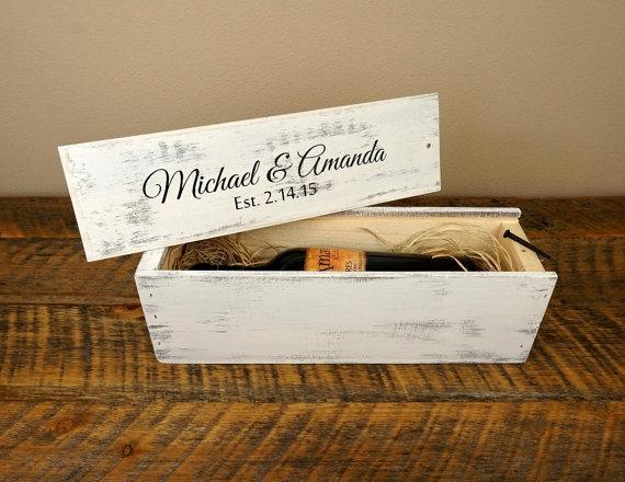 Wine Wedding Wedding Wine Box Personalized Wine Box 2285921