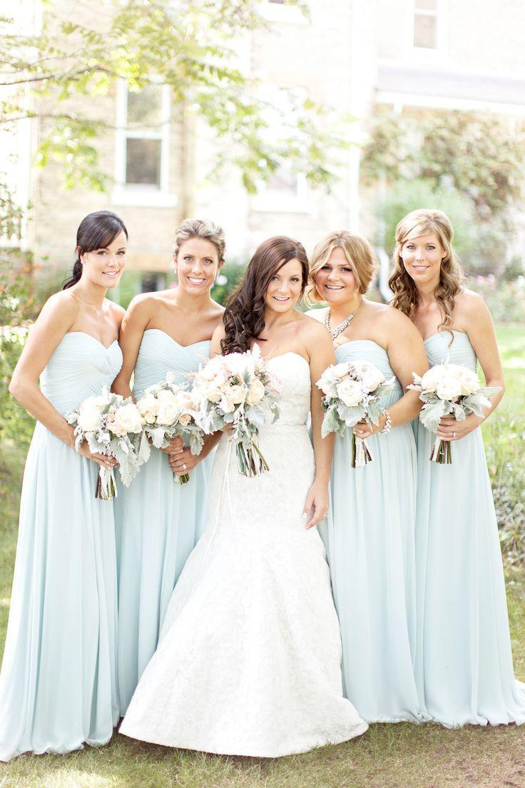 Mariage - Elegant Chiffon Long Strapless Bridesmaid Dress
