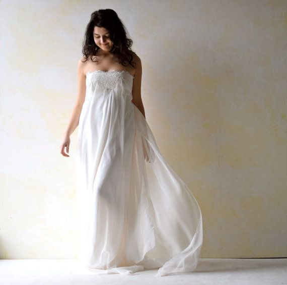 Empire Wedding Dress Strapless Wedding Dress Art Nouveau Wedding