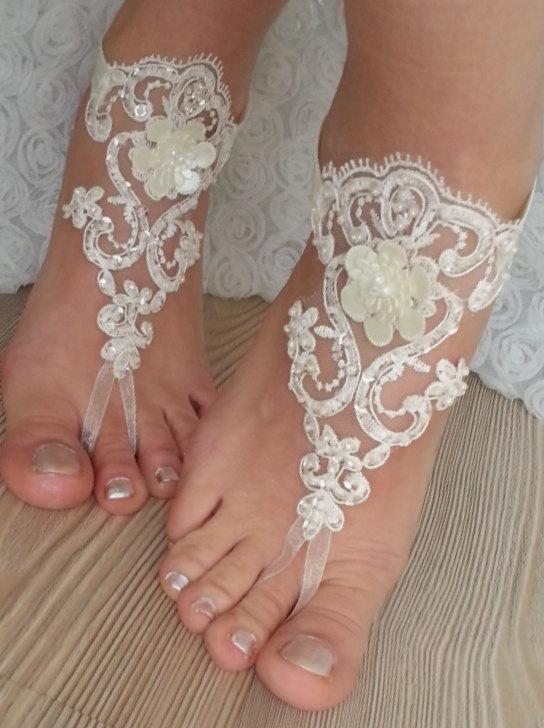 Ivory Lace Sandals Lace Sandals Wedding