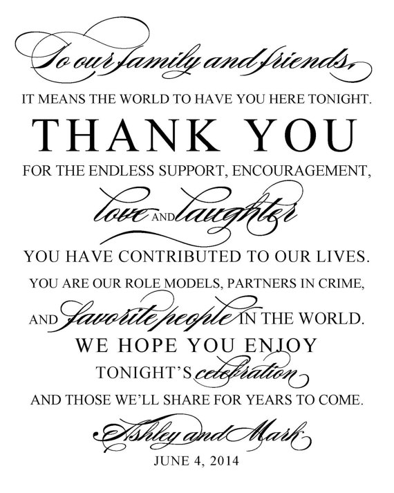 Wedding - DIY Printable Wedding Sign - Thank You, Wedding and Event Signage - Your choice of colors - Digital Download - pdf file -S-176