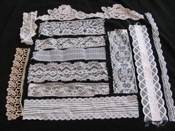 Mariage - Lace Sewing Trim Pieces - Assorted Designs Patterns - Salesman Samples