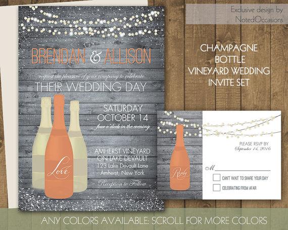 Vineyard Wedding Invitations Rustic Wine Country Wedding Set On – Wine Country Wedding Invitations