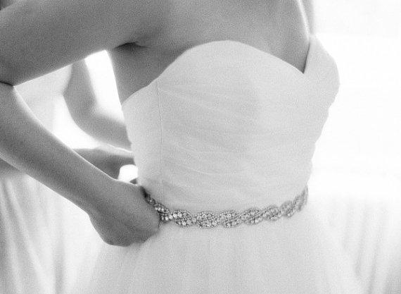 Mariage - Wedding dress Bridal Sash,Wedding Dress Sash Belt, Rhinestone Sash, Rhinestone Bridal Bridesmaid Sash Belt, Wedding dress sash