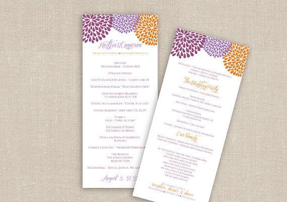 wedding program template for microsoft word