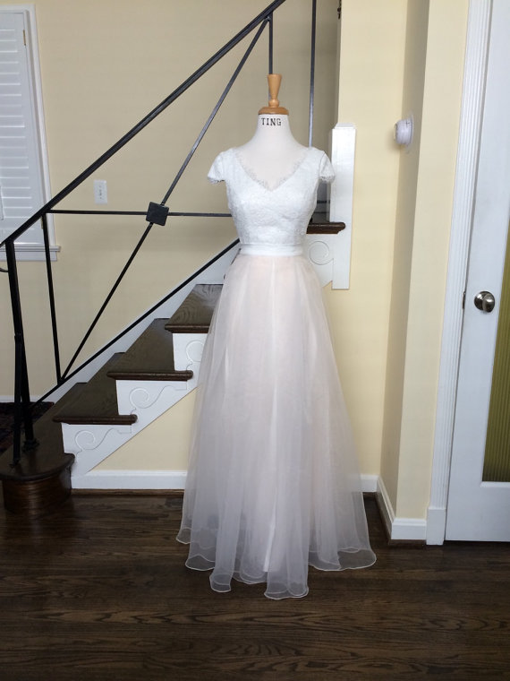 2piece Wedding Dress Sample Sale Size XS Ready To Wear Free Shipping USA