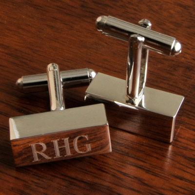 Wedding - Personalized Cuff links - Engraved Cufflinks -Groomsmen Gift -  Monogram Groomsman Gift - Fathers Day Gift  (FC798)