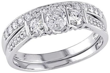 Mariage - Allura 3/4 CT. T.W. Diamond Bridal Set in 10K White Gold (GH) (I2-I3)