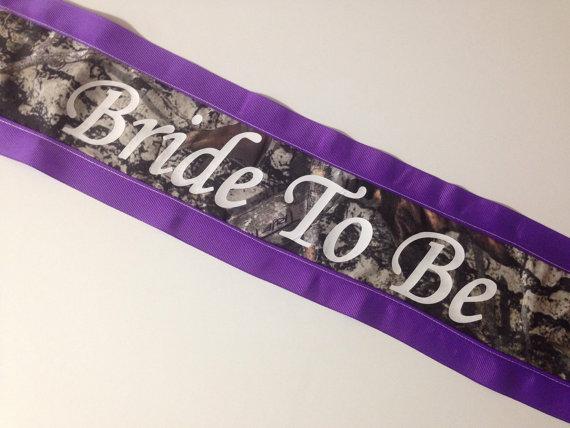 bachelorette sash bridal shower sash camo sash