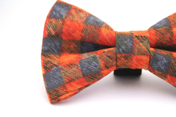 Свадьба - Dog Bow Tie, Orange Dog Bow Tie