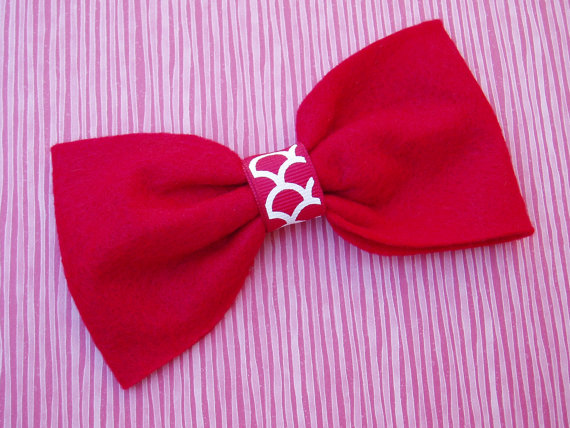 Свадьба - Dog Valentines outfit doggie Bow Tie Collar Attachment Pet Costume RED bowtie formal wear, Clothing wedding SMALL or LARGE