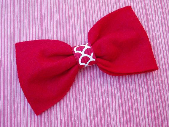 زفاف - Dog Valentines outfit doggie Bow Tie Collar Attachment Pet Costume RED bowtie formal wear, Clothing wedding SMALL or LARGE