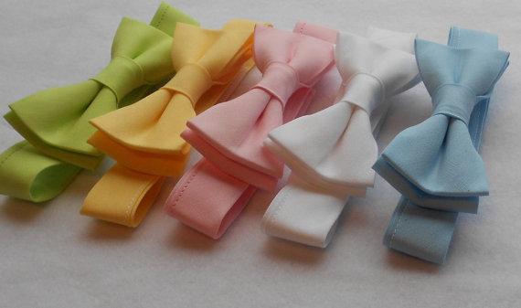 زفاف - Boys Bowtie Spring Colors: Lime, Yellow, Baby Blue, Pink, White