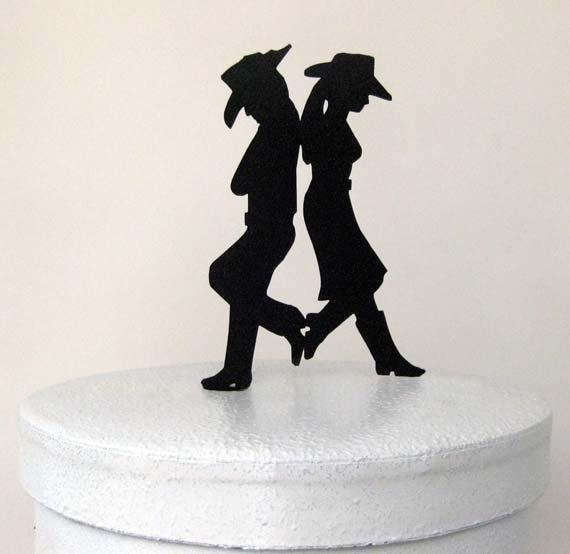 Свадьба - Wedding Cake Topper - Country & Western Wedding