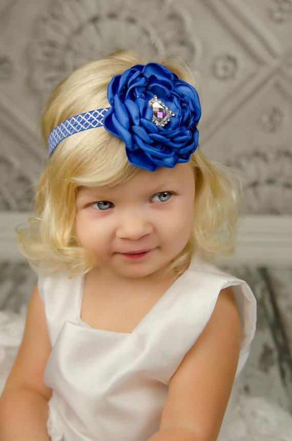 Blue Flower Headband 4216d53f564