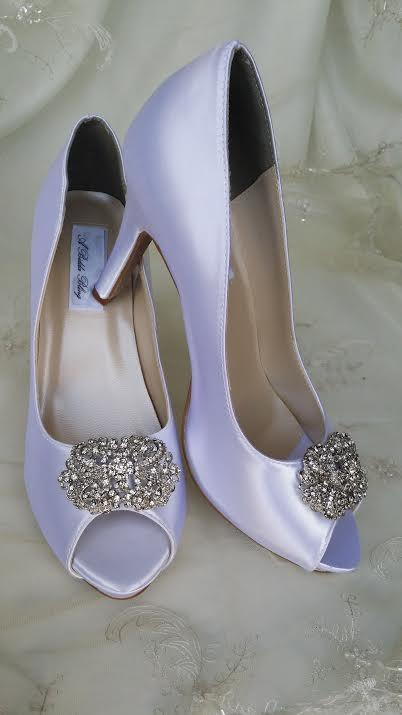 Свадьба - Wedding Shoes Crystal Bridal Shoes Pick your Color - White bridal shoes - Ivory Wedding Shoes - Blue Wedding Shoes