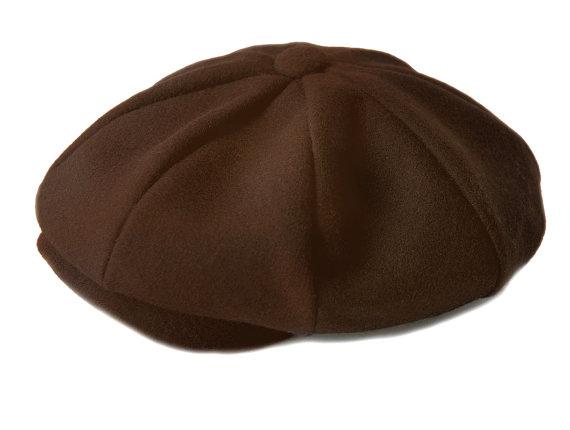 Wedding - Baby Boy Hat - In brown Wool, Ring Bearer Wedding, Sporty, Infant, Newsboy hat, Lucas Hat - Handmade by pink2blue.