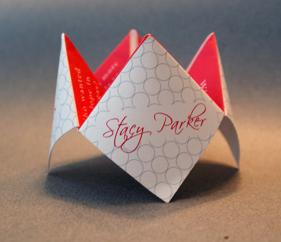 Wedding Favor Cootie Catcher Decoration