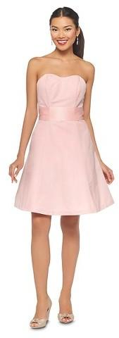 Wedding - Women's Faille Strapless Bridesmaid Dress w/Sweetheart Neckline - TEVOLIO