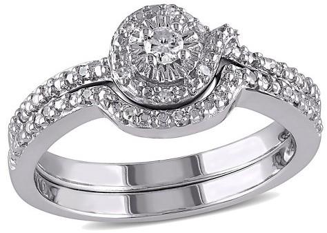 Mariage - Allura 1/7 CT. T.W. Diamond Bridal Set in Sterling Silver (GH) (I2-I3)