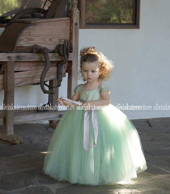 Mariage - Mint Flower Girl Dress