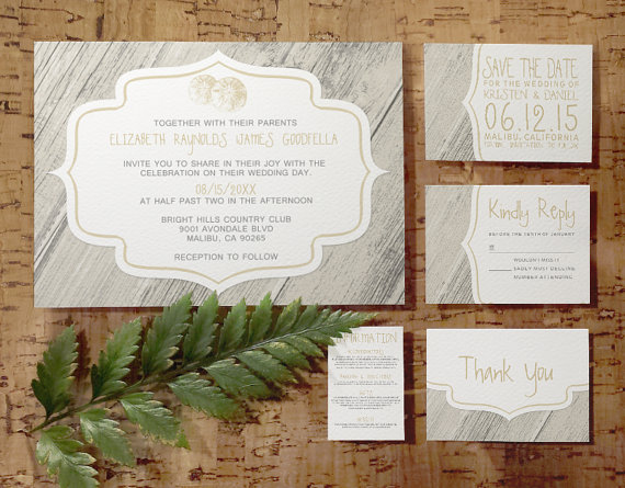 Country Beach Sand Dollar Wedding Invitation Set/Suite, Invites ...