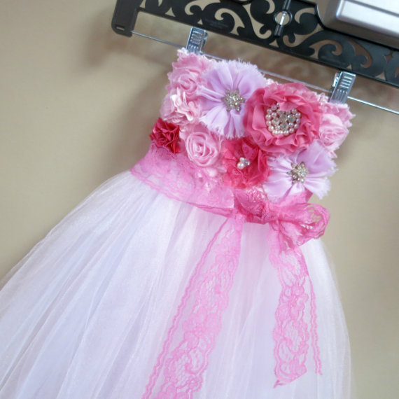 a03aef1d0 Over the Top Tutu Dress - Light Pink Flower girl dress - Tutu dress Wedding  dress - Birthday dress, Pageant Dress, Beautiful Girls Dress