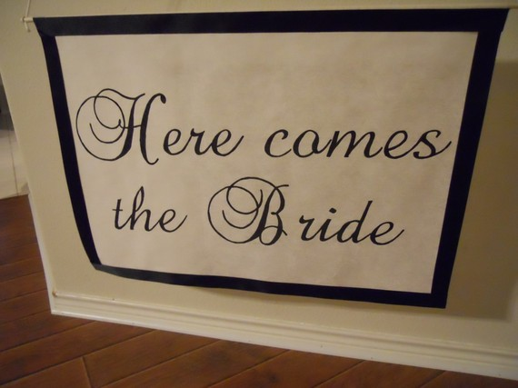 Wedding - Custom Wedding Banner, Here Comes the Bride