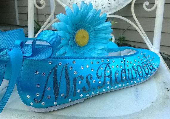 Malibu Blue Ballerinas, Turquoise Shoes , Flats, Design Your Own ...