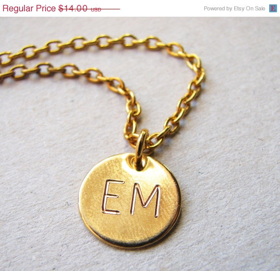Свадьба - SPRING SALE Two Initial Necklace, Gold Initial Necklace, Gold Double Monogram Necklace, Gold Double Initial Necklace, Custom Gold Necklace,