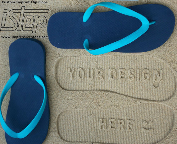 f2f6eaf03 Design Your Own Sand Imprint Flip Flops-Leave Your Message in the Sand!
