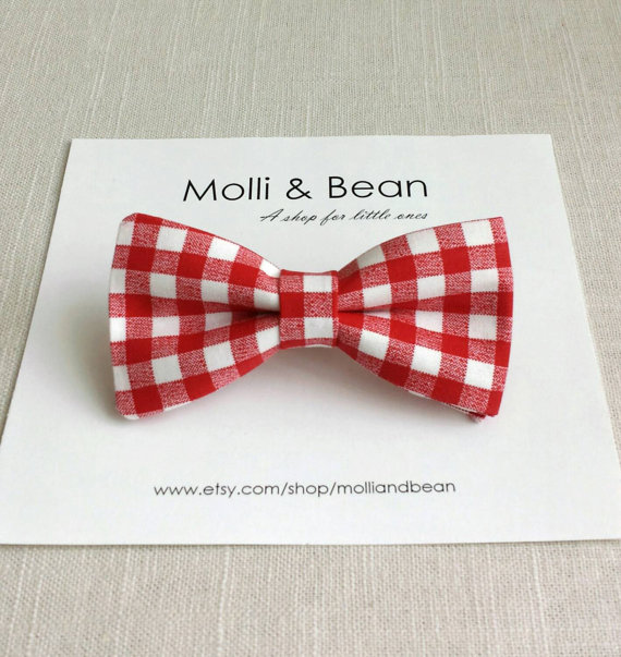 bc89f78ff48f The Mitch - Baby, Newborrn, Toddler, Kids, Boys bow tie, Wedding bowtie,  Ring bearer bowtie, Mens bow tie, Red gingham bow tie, Easter tie