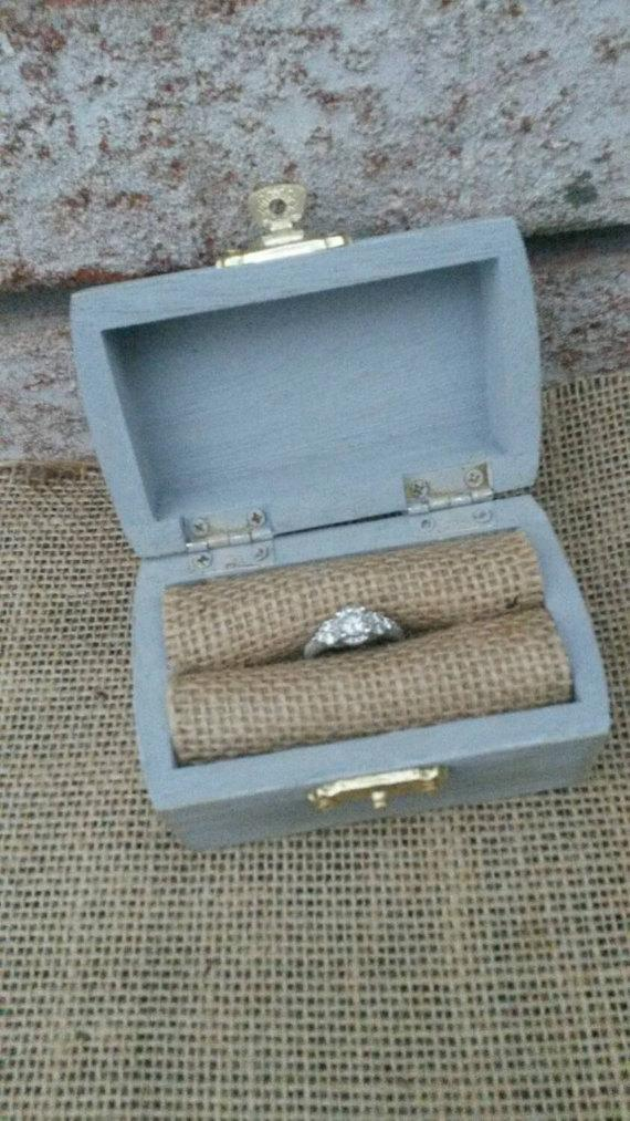 Mariage - Rustic Ring Box - Ring Bearer Box - Rustic Wedding Decor - Wedding Keepsake - Proposal Box - Engagement Ring Bow