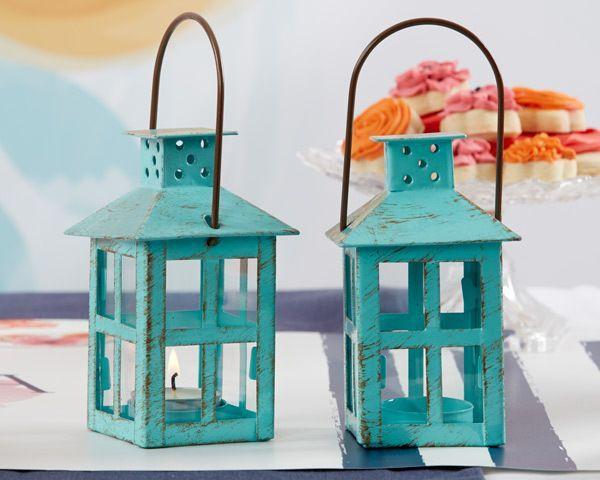 Свадьба - Vintage Themed Blue Lantern Wedding Favor
