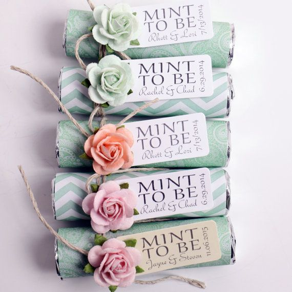 Mint Wedding Favors - Set Of 100 Mint Rolls - \