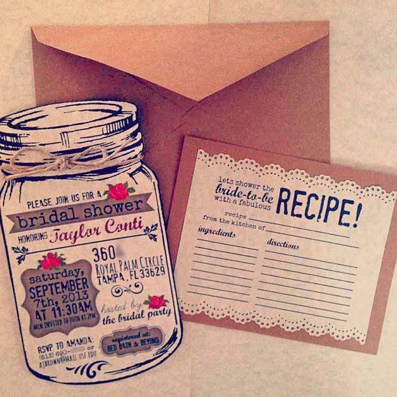 زفاف - Sunflower Mason Jar Invitation With Twine Embellishment Invitation