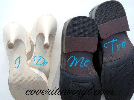 Mariage - Something Blue I Do Me Too Vinyl Shoe Decal - Down The Aisle Vinyl