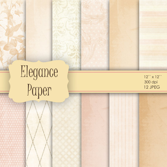 Wedding - 12 Wedding Vintage Shabby Chic Digital Paper for Scrapbooking, Crafts, Invitations, Digital Scrapbooking COMMERCIAL USE