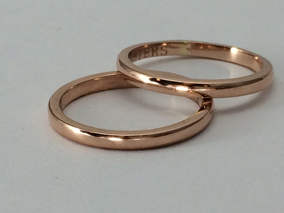 Hochzeit - ONE ring, 10kt gold, 12g, Pink gold, or yellow gold ring, stacking, wedding bands, engagement, promise