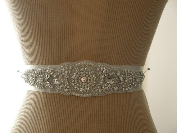 Hochzeit - SALE / Wedding Belt, Bridal Belt, Bridesmaid Belt, Sash Belt, Wedding Sash, Bridal Sash, Belt, Crystal Rhinestone & Pearl