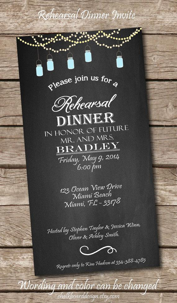 printable rehearsal dinner invite  printables  custom