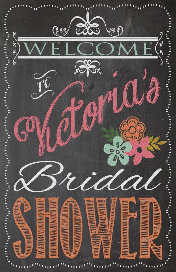 Свадьба - Shabby Chic Vintage Chalkboard Welcome Sign Bridal or Baby Shower Wedding Birthday Party Digital