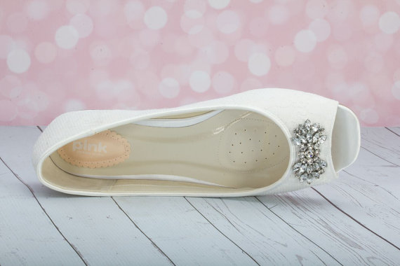 Lace Flats Wedding Shoes Something Blue - Choose From Over 100 ...