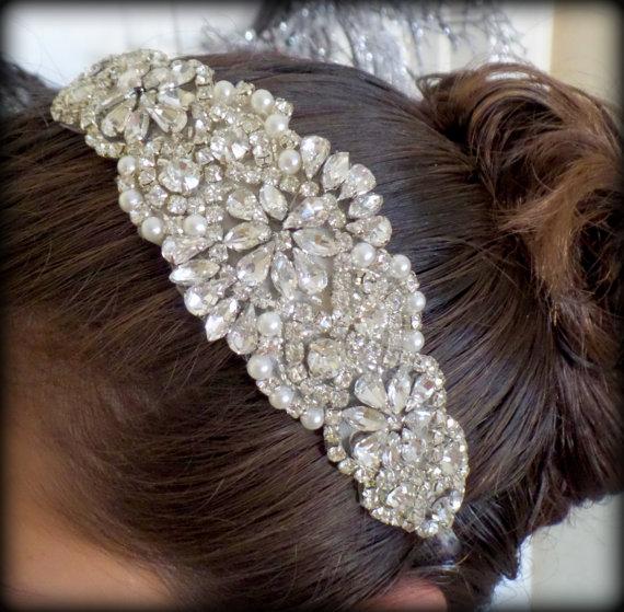 Mariage - Bridal Headband - Wedding Headband - Bridal Headpiece- Bridal Hairpiece - Simply Beautiful
