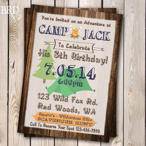 camping invitation campout party invitation campout birthday