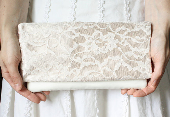Hochzeit - 6 Bridesmaid Clutches - Wedding Clutch Purse - Bridesmaid Gift Idea - Design Your Own Bridal Collection