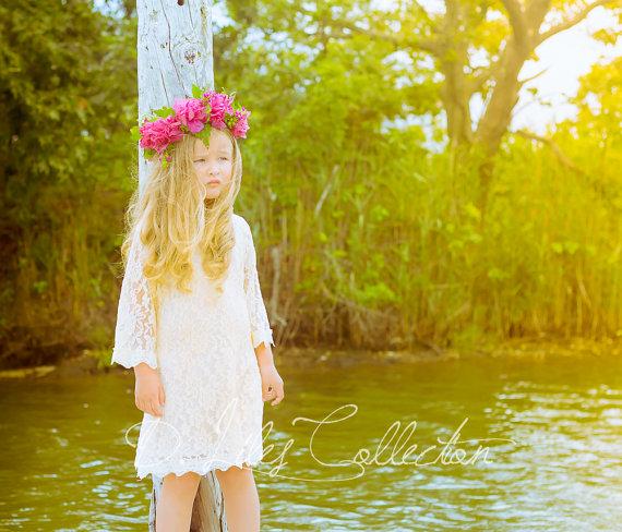 Ivory flower girl dresses australia