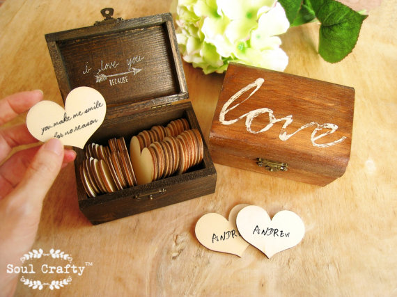 30 reasons i love you because wooden heart message rustic gift