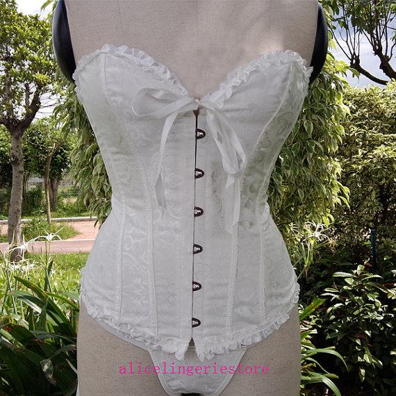 Hochzeit - NEW sexy cute bustier corset HQ wedding style bride overbust sexy girl lace up bustier