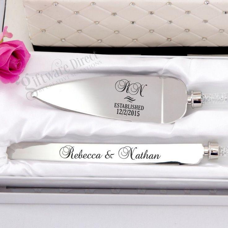 Mariage - Personalised Engraved Cake Serving Wedding Set Knife Engagement Server Stainless